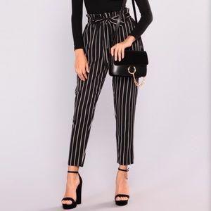Marcela pants black/white from Fashion Nova
